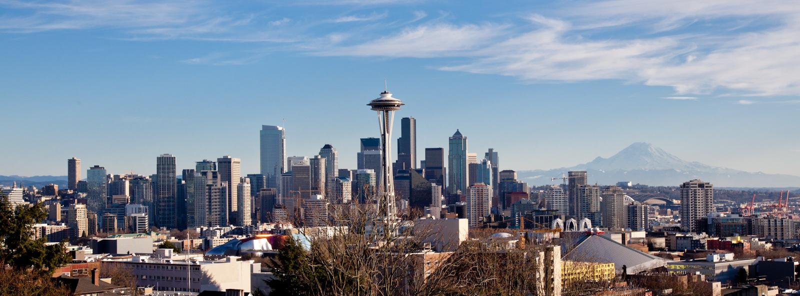 Seattle Skyline. Photograph by Kenneth Lu